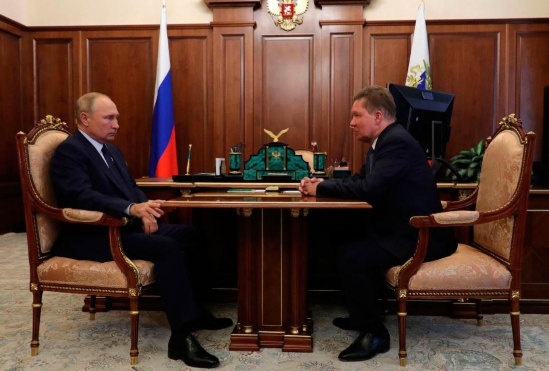 Состоялась рабочая встреча Владимира Путина и Алексея Миллера